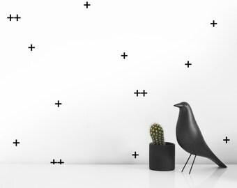 Modern Wall Decals - Black Cross decals | Modern Nursery| Modern Baby room  decor ideas | Modern nursery decor | easy decals | Modern design