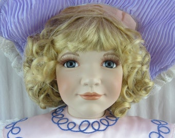 """William Tung """"Blair"""" Limited Edition Porcelain Doll 28"""" Tall in Box"""