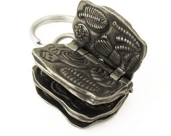 Ediacaran Biota Keychain - Fossil keychain, Paleontology keychain