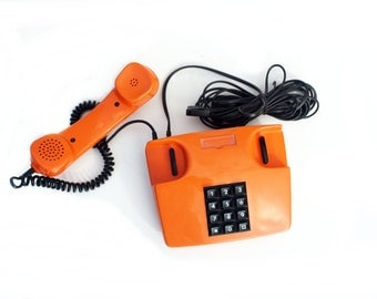 Vintage Telephone in Orange