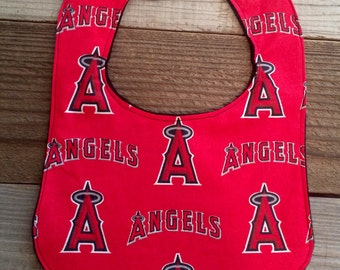 Anaheim angels baby bib, angels baby bibs, angels baby gifts, angels bibs