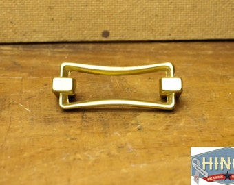 Vintage Brass Finished Aluminum Bowtie shaped drawer, cabinet, furniture pull Item503b
