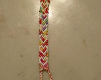 Rainbow hearts heart friendship bracelet