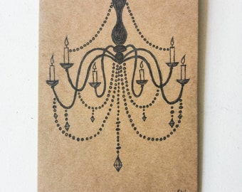 Fancy Chandelier on a Postcard