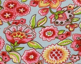 Lotus in Powder Blue KNIT by Stenzo Textiles, Premium Euro Cotton - Spandex Jersey Knit, Netherlands 5519