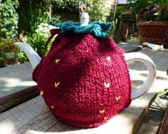 Strawberry teapot warmer, free shipping.