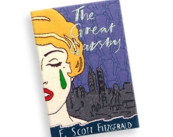 The Great Gasby by F.Scott Fitzgerald Book Clutch. Personalized book bag. Book purse with hand embroidery. Clutch book purse.