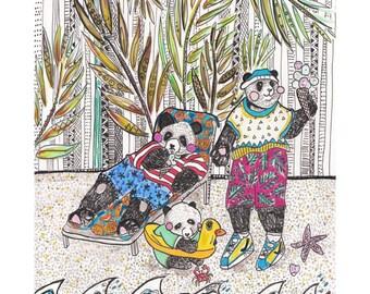 Pandas on holiday