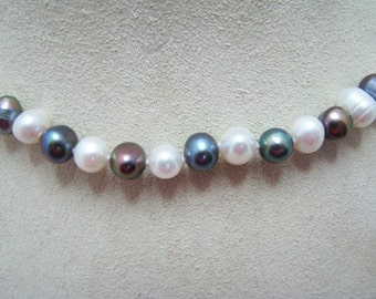 Lovely Baroque Multi Color Pearl Necklace