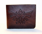 Legend of Zelda! Leather wallet, brown wallet, great leather item, brown men's wallet, credit card wallet, gift for men.