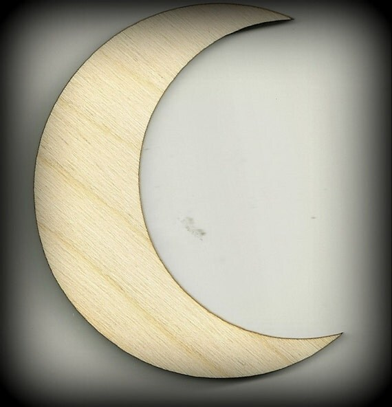 Craft Moon Shape Outhouse Decoration Waxing Moon Outlines