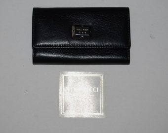 Vintage NINA RICCI Black Leather Key Case