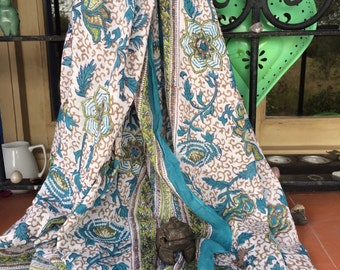 Sarong  , pareo in hand block print cotton