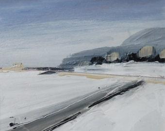 WARLEY WOODS ROAD, Midlands. Original Oil Landscape Painting.