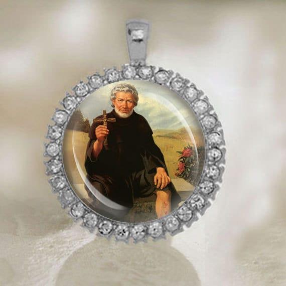 St peregrine laziosi pellegrino latiosi catholic medal silver like this item mozeypictures Image collections