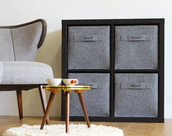 Felt storage bin fits into many shelves and perfect into expedit and kallax
