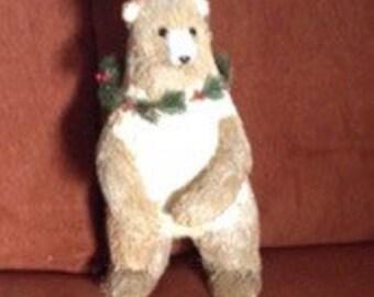 Vintage Standing Christmas BEAR