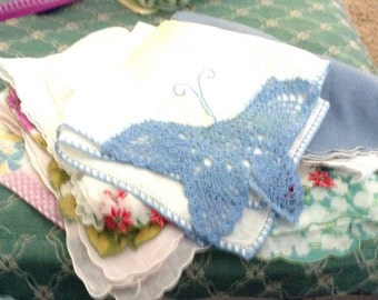 Vintage 10 Crafter Handkerchiefs