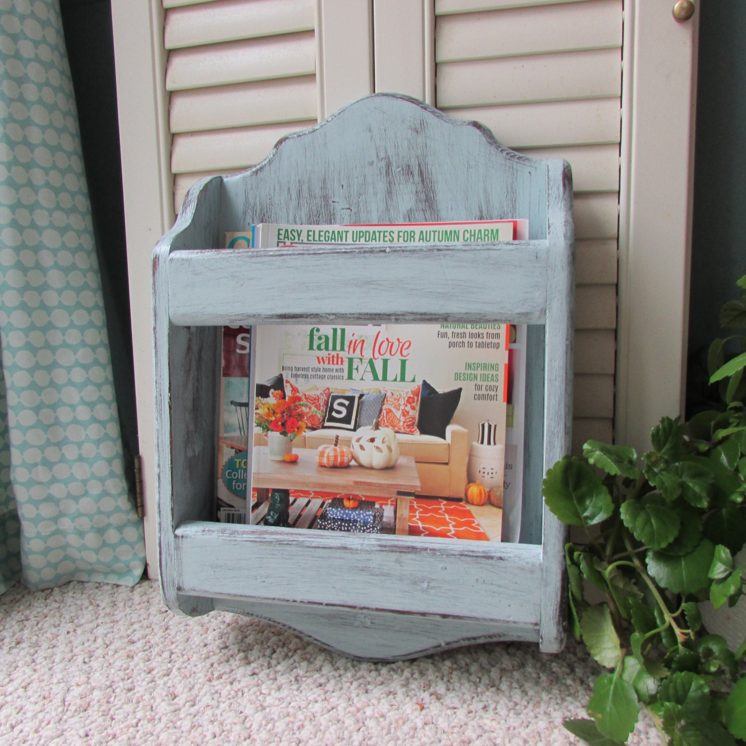Magazine Rack Wall Mount Magazine Holder Book Rackstorage