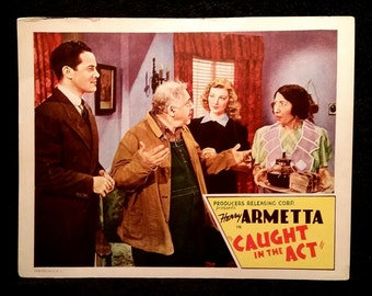 Original 1941 Caught In The Act Movie Poster Lobby Card Henry Armetta Vintage Hollywood
