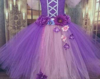 Rapunzel dress, Tangled dress,custom Rapunzel tutu dress, princess tutu dress,Rapunzel tutu sizes: 0-10years