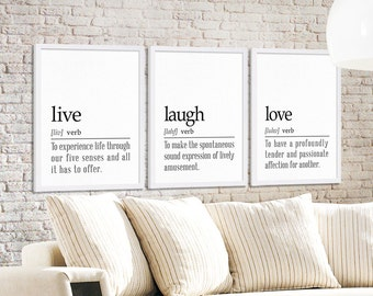 Live laugh love etsy for Decor meaning