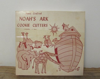 Cookie Cuers, Noah's Ark Animal's, Set of Eight, Hand Crafted, USA, 1960's