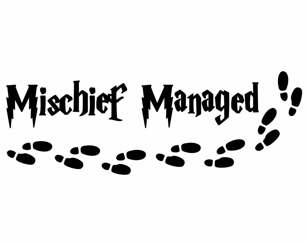 Harry Potter Font Mischief Managed Yeti Cup Car Jeep Decal