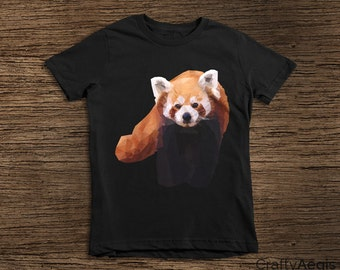 Red Panda Low Poly Geometric Design for Kids! Unisex Favorite - Great Gift for Kids - Portion of Proceeds go to Red Panda Charity