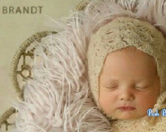 Baby Mohair Bonnet. gREaT GIfT. Perfect Gift!  Great Photo Prop. Adorable! Perfect for Your Baby!