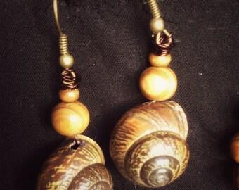 Snail house earrings