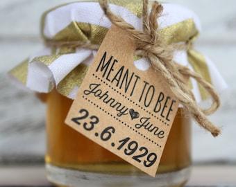 Mini Jam and Honey Jar Wedding Bonbonniere