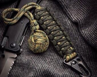 Custom lot of (25) monkey fist keychains with hk hooks