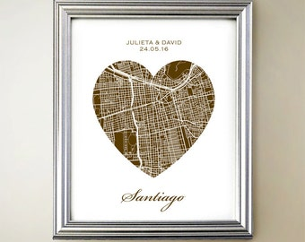 Santiago Heart Map