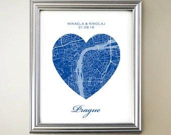 Prague Heart Map