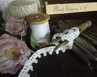 Hand Crocheted Lace Edging