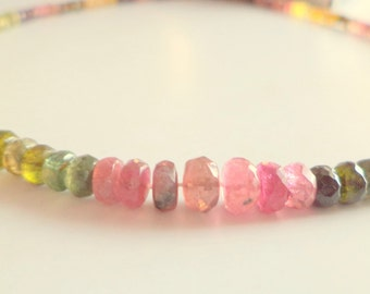 """16"""" Gorgeous Natural Multi Tourmaline faceted Beads Gemstone 4-6.5 mm 100 cts"""