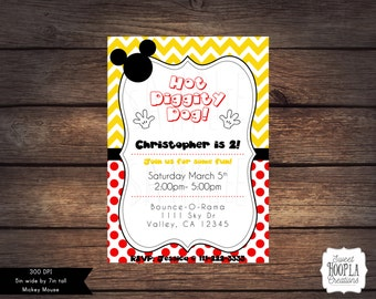 Mickey Mouse Invitation- DIGITAL DOWNLOAD