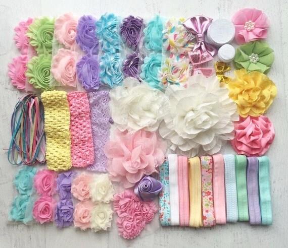 Baby Shower Headband Kit Springtime Pastels Baby