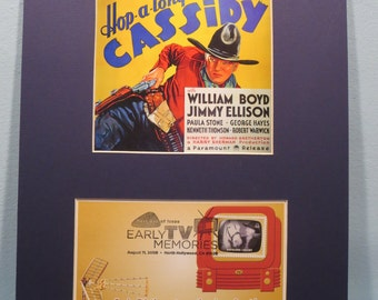 Hopalong Cassidy starring William Boyd & First Day Cover of the Hopalong Cassidy stamp