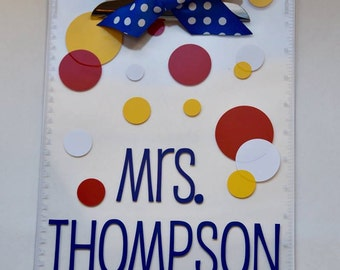 SET OF TWO Personalized Teacher Clipboards