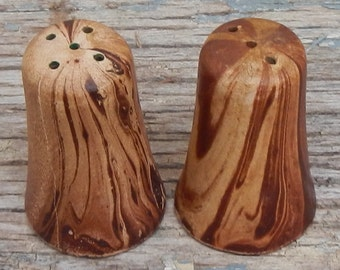 Unique Set of Pottery Salt and Pepper Shakers!