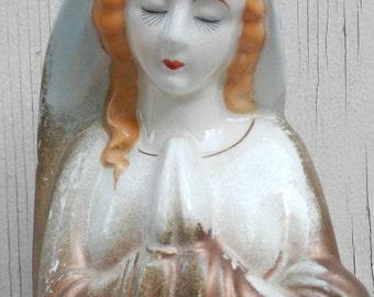 Lovely Vintage Madonna Planter!