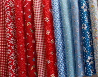 30's Prints Fabric 32 Piece Jelly Roll 2.5 Inch x 44 Inch Strips Quilt Fabric High Quality Cotton