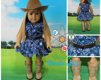 """American Made Country Dress for your 18"""" Girl Doll"""
