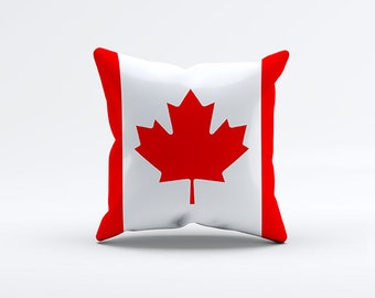 Flag of Canada Throw Pillow Cover 15 x 15 inch