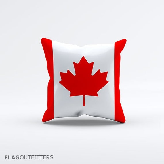 15 Inch Throw Pillow Covers : Flag of Canada Throw Pillow Cover 15 x 15 inch