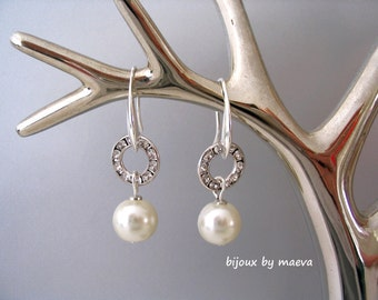 bridal jewelry earrings rhinestone earrings and rings pearl ivory