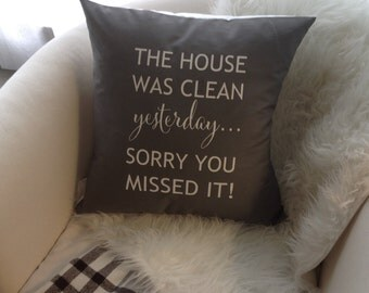 The House Was Clean Yesterday... Pillow