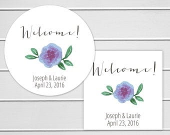 Welcome Stickers, Wedding Welcome Sticker, Wedding Stickers, Wedding labels (#254)